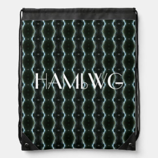 HAMbyWG Drawstring Backpack - Black Light