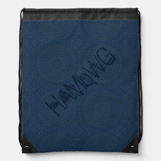 HAMbyWG Drawstring Backpack - Dark Blue Bohemian