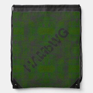 HAMbyWG Drawstring BackPack - Green Distress