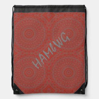 HAMbyWG Drawstring Backpack - Red Bohemian