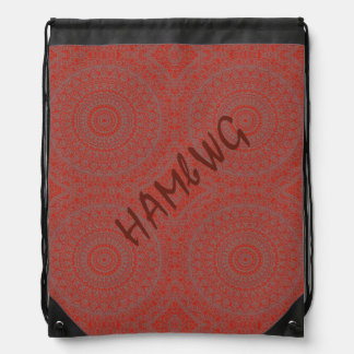 HAMbyWG Drawstring Backpack - Red Bohemian