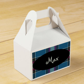 HAMbyWG - Favor Box -Plaid Personalized