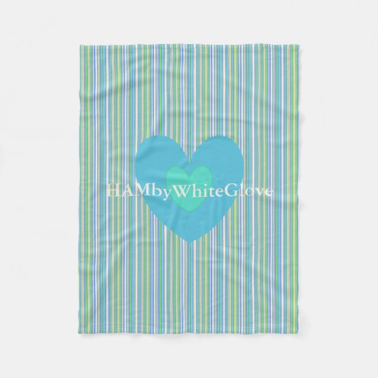 HAMbyWG - Fleece Blanket - Bar Blues Gingham