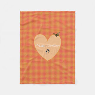 HAMbyWG - Fleece Blanket - L Orange Gingham