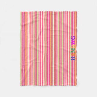 HAMbyWG - Fleece Blanket - Pink Orange Mint Bar