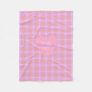 HAMbyWG - Fleece Blanket - Salmon Lilac Plaid