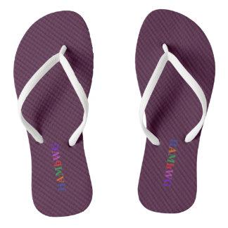 HAMbyWG - Flip-Flops - Amethyst Bright Multi Logo Flip Flops