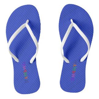 HAMbyWG - Flip-Flops - Blue w Bright Multi Logo Flip Flops