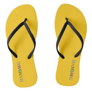 HAMbyWG - Flip-Flops -  Citrus w Multi Logo Flip Flops