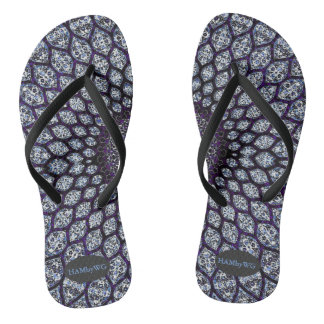 HAMbyWG  Flip-Flops - India Ink Purple Flip Flops