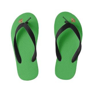 HAMbyWG Flip Flops -Kids, Toddler - Comic Green