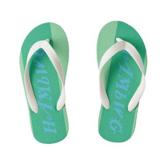 HAMbyWG - Flip Flops, Kids, Toddler - mint w logo Kid's Flip Flops
