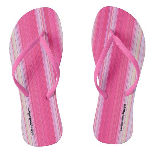 HAMbyWG - Flip-Flops  Light Pink & White Flip Flops