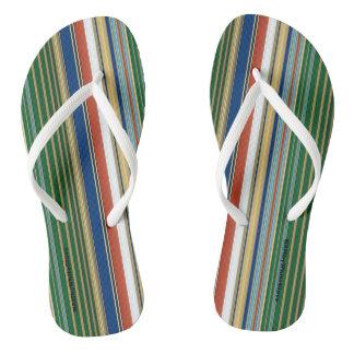 HAMbyWG - Flip-Flops Mixed Stripes Flip Flops