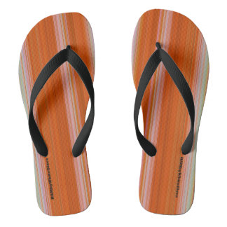 HAMbyWG - Flip-Flops  - Orange Gradient Stripes Flip Flops