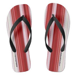 HAMbyWG - Flip-Flops  Red White Flip Flops