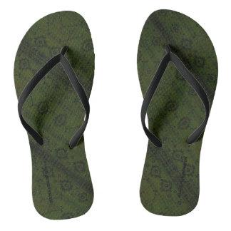 HAMbyWG - Flip-Flops  Snake - Green Boho Flip Flops
