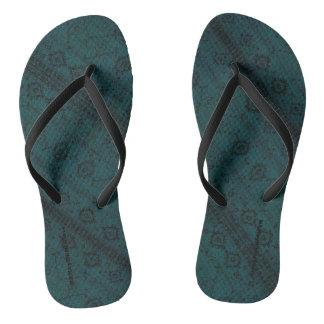 HAMbyWG - Flip-Flops  Snake - Teal Boho Flip Flops