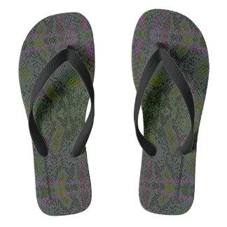 HAMbyWG - Flipp-Flops - Snake w Green Purple Flip Flops