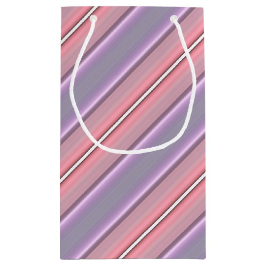 HAMbyWG Gift Bag - Light Pink & Purple Stripe