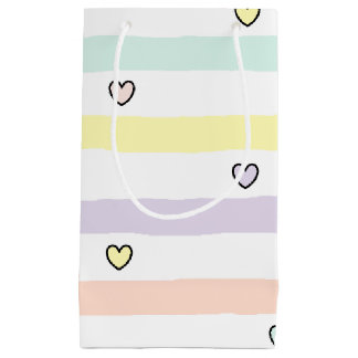 HAMbyWG - Gift Bags - Pastel Stripes & Hearts