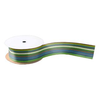 HAMbyWG - Gift Ribbon - orange green blue white Satin Ribbon