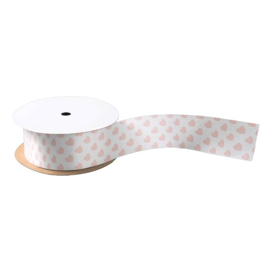 HAMbyWG - Gift Ribbon - Peachy Pink Hearts Satin Ribbon