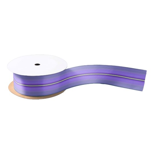 HAMbyWG - Gift Ribbon - Purple Stripe Satin Ribbon