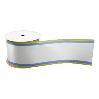 HAMbyWG - Gift Ribbon - Rainbow & White Satin Ribbon