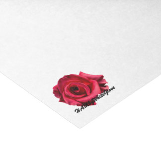 HAMbyWG - Gift Tissue - White w HAMbyWG Rose Logo Tissue Paper