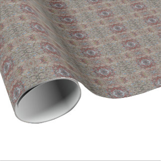 HAMbyWG - Gift Wrap - Linen Natural w Maroon Olive