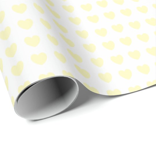 HAMbyWG - Gift Wrap - Tiny Pale Yellow Hearts