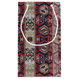 HAMbyWG - Gift Wrap - Tribal Blue Red Brown patter Small Gift Bag