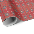 HAMbyWG - Gift Wrap - Turkish Red w Blue