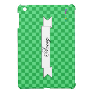 HAMbyWG Glossy Hard Case - Green Gingham Case For The iPad Mini