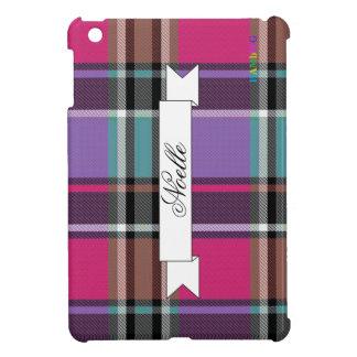 HAMbyWG   Glossy Hard Case - Plaid w Pink iPad Mini Cases