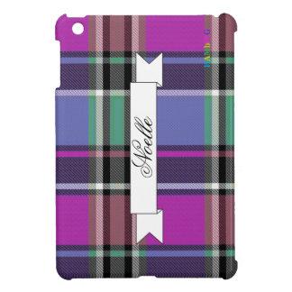 HAMbyWG   Glossy Hard Case - Plaid w Pink iPad Mini Covers
