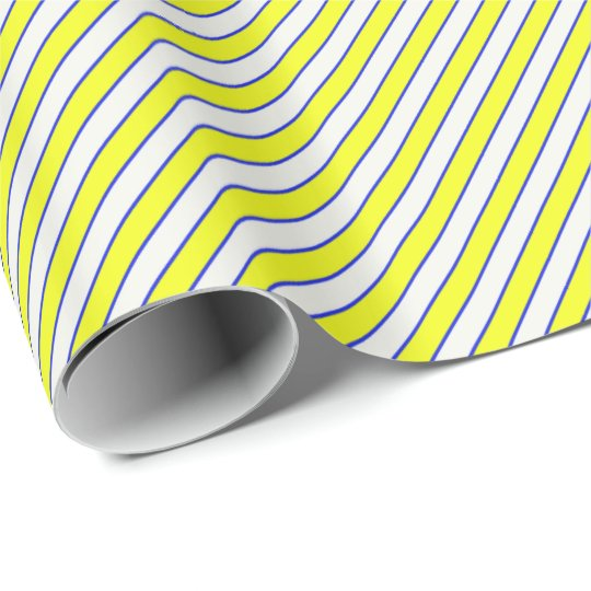 HAMbyWG Glossy Wrapping Paper Yel/White/Bl Stripe