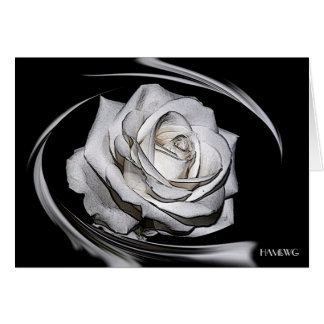 HAMbyWG - Greeting Card - Painted White Rose