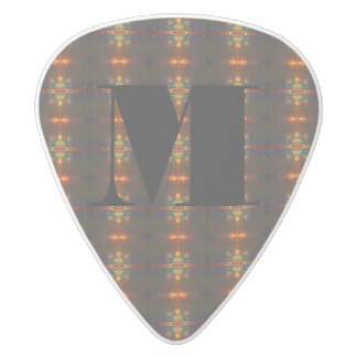 HAMbyWG - Guitar Pic - Amber/Sapphire/Emerald White Delrin Guitar Pick