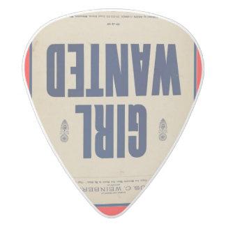 HAMbyWG - Guitar Pic - Guitar Pic White Delrin Guitar Pick