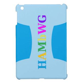 HAMbyWG -Hard Case - Blue w Multicolor Logo iPad Mini Cover