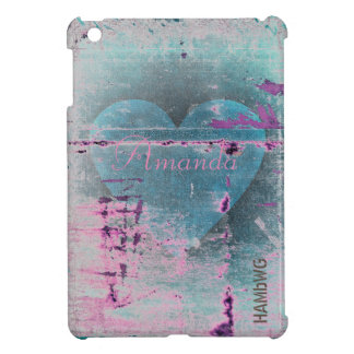 HAMbyWG -Hard Case - Distressed Heart Cover For The iPad Mini