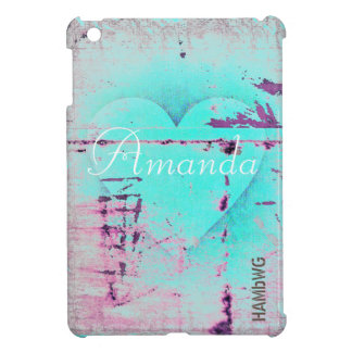 HAMbyWG -Hard Case - Distressed Heart iPad Mini Cover