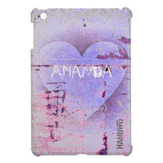 HAMbyWG -Hard Case - Distressed Heart iPad Mini Covers