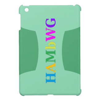 HAMbyWG -Hard Case - Green w Multicolor Logo Case For The iPad Mini