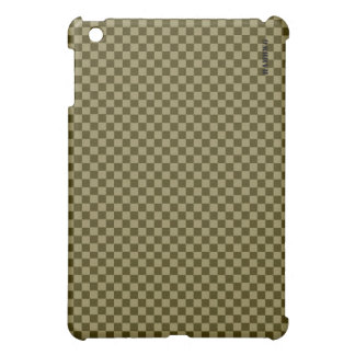 HAMbyWG   Hard Case -  Olive Gingham Cover For The iPad Mini