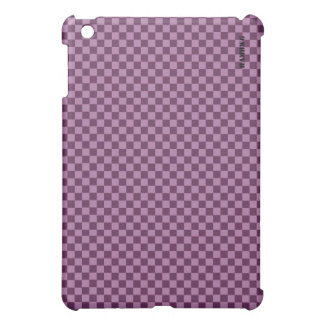 HAMbyWG   Hard Case -  Plum Gingham iPad Mini Cover