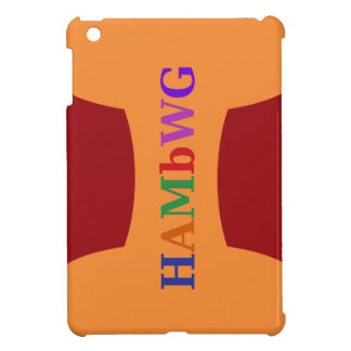 HAMbyWG -Hard Case - Red w Multicolor Logo iPad Mini Cover