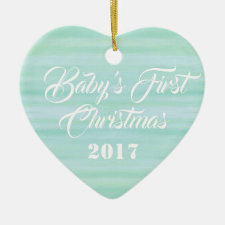 HAMbyWG - Heart Shaped Ornament - Baby's First